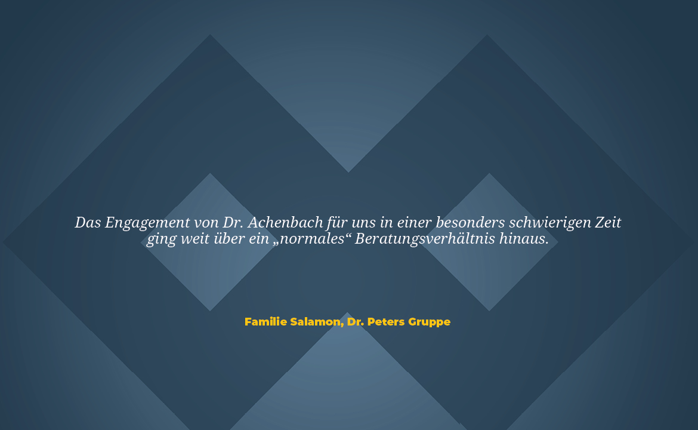 Zitat Dr Peters